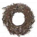 wholesale Artificial Flowers: Wreath Malum , D40cm, round tied, W12cm, brown